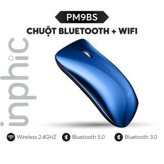 Chuột Bluetooth + Wifi phong cách Macbook Inphic PM9BS có thể sạc lại (ba chế độ BT5.0 3.0 + 2.4Ghz) Chính Hãng thumbnail