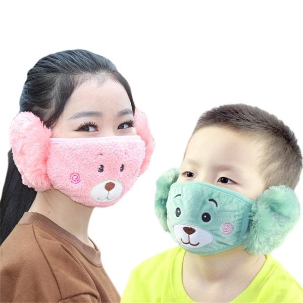 Giá bán Khẩu Trang Che Tai Giữ Ấm Chống Bụi Hình Gấu Hoạt Hình Dễ Thương Cho Bé