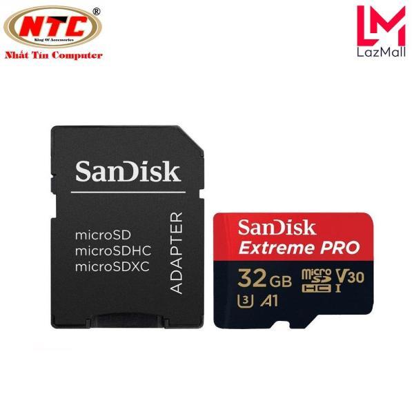 Thẻ nhớ microSDHC Sandisk Extreme Pro 667X A1 V30 32GB UHS-I U3 100MB/s (Đen) - Nhat Tin Authorised Store