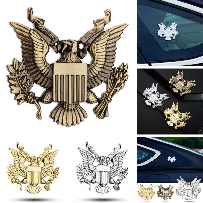 Logo huy hiệu đại bàng Mỹ Bpluribus Unum 6.5x6.3cm