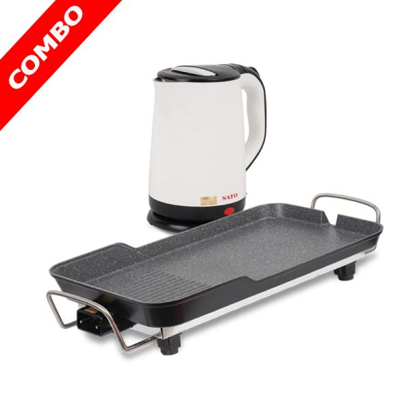 Combo - Bếp nướng điện SATO ST-100NDA và ấm siêu tốc SATO ST-1807