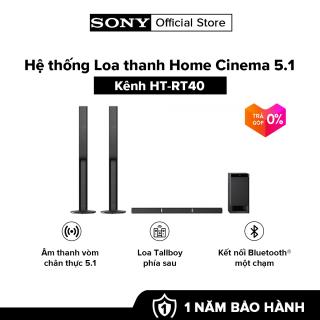 Hệ thống Loa thanh Home Cinema 5.1 kênh HT-RT40  Âm thanh vòm chân thực 5.1  Khả năng kết nối Bluetooth®  Phát lại âm thanh và video qua USB