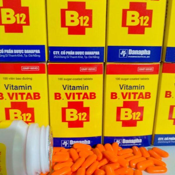 VITAMIN B.VITAB B12 Lọ 100 viên