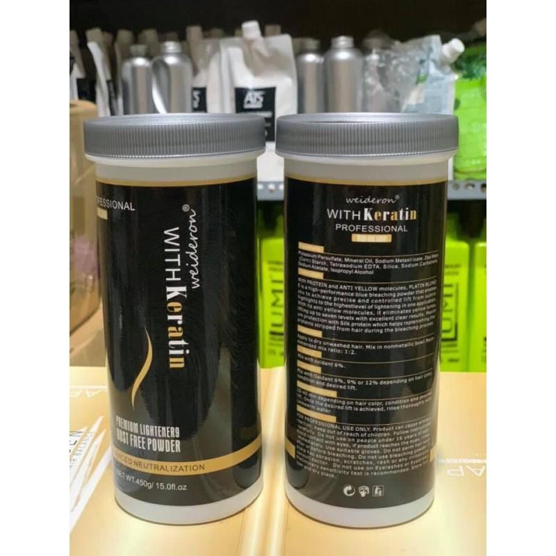 Bột Tẩy Tóc Weideron Keratin 450Gr-Bột Tẩy Mềm Không Khô Tóc giá rẻ