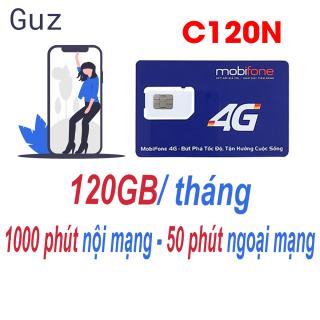 Sim 4G Mobifone C120N 120GB tháng (4 GB ngày + 1000 phút nội mạng + 50 phút liên mạng) thumbnail