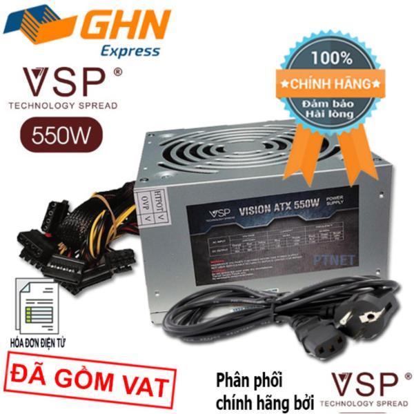Giá Bộ nguồn cao cấp VSP 550W fan 12cm, dùng cho PC văn phòng, giải trí, game (Màu bạc)