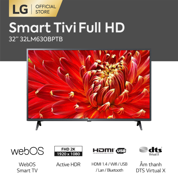 Bảng giá [FREESHIP 500K TOÀN QUỐC] Smart TV LG 32inch HD - Model 32LM630BPTB (2019)  Chip xử lý Quad Core Active HDR  Dolby Audio - Kết nối không dây với điện thoại, máy tính bảng - Hãng phân phối chính thức