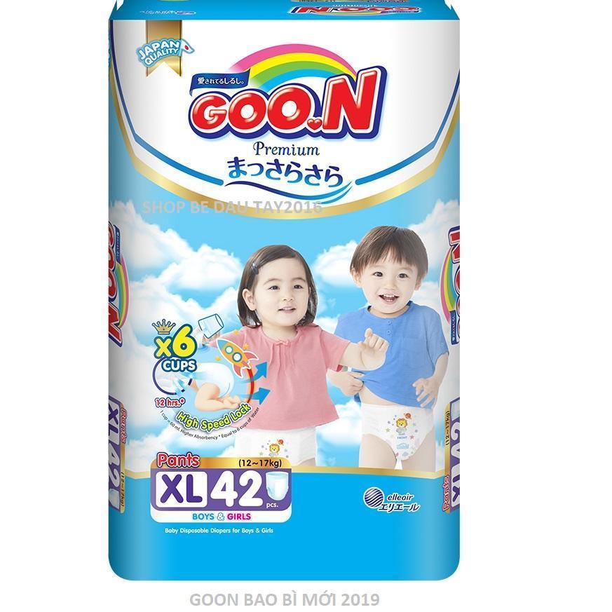 [Bao Bì Mới] Tã Quần Goon Slim XL42 Miếng 12 - 17kg (cắt Tem) Đang Ưu Đãi Giá
