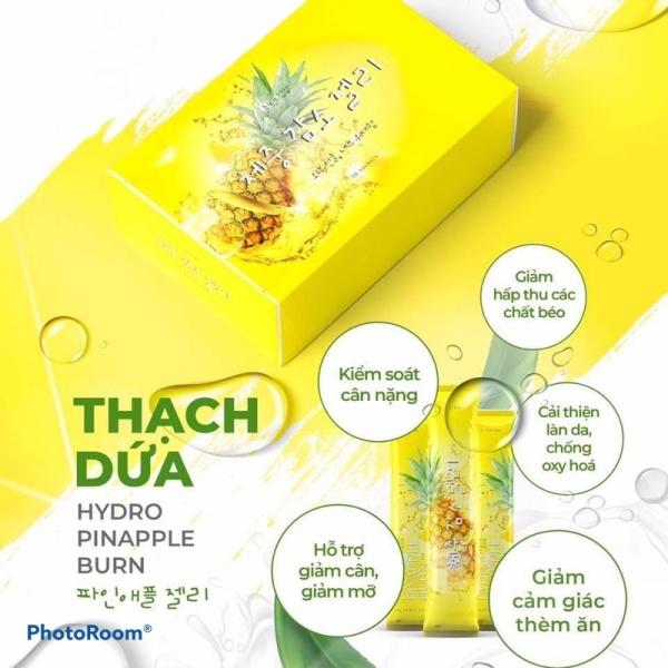 Thạch dứa giảm cân Hydro Pinapple Burn - Hộp 10 gói