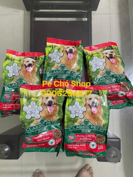 Combo 5 goi Thức Ăn Chó Chó Trưởng Thành - CLASSIC ADULT DOG Vị Bò 400gr