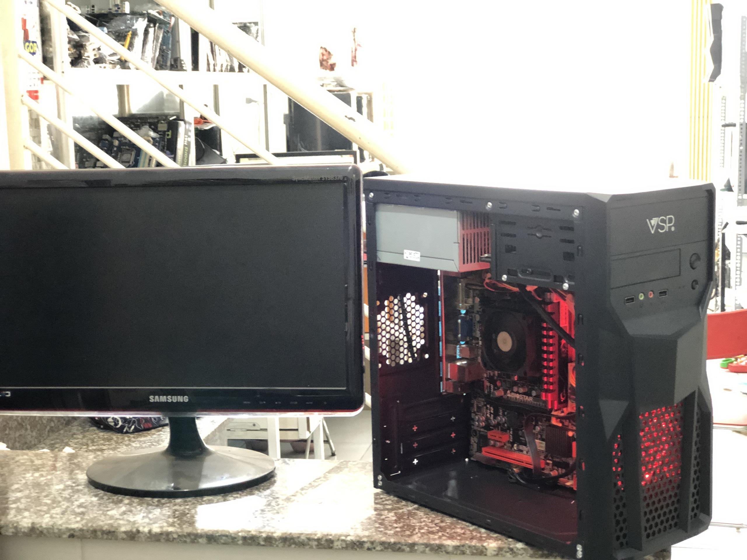 PC chơi game A6 5400k 3 6Ghz/ Ram 8G/ Vga 4G/ Hdd 250G/ Màn hình 19inch/  Tặng phím chuột