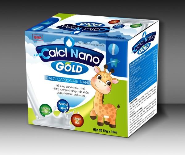 Canxi tăng chiều cao cho bé-Calci Nano Gold giúp Bổ Sung Canxi, Vitamin D3,Giup Phát triển chiêu cao ở trẻ, giảm loãng xương ở người lớn nhập khẩu