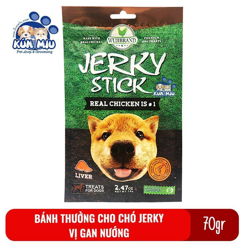 Bánh thưởng cho chó Jerky 70gr Vị gan