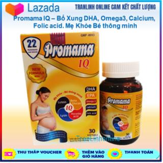 Calcium, Promama IQ Bổ Xung DHA, Omega3, Folic acid, Vitamin cho bà bầu, Mẹ Khỏe Bé thông minh Hộp 30 viên thumbnail