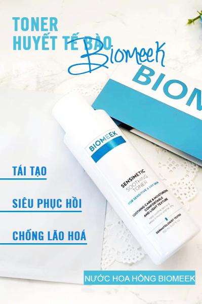 Nước hoa hồng Biomeek Sensimetic Soothing Toner dưỡng ẩm, trắng da và se khít lỗ chân lông 150ml