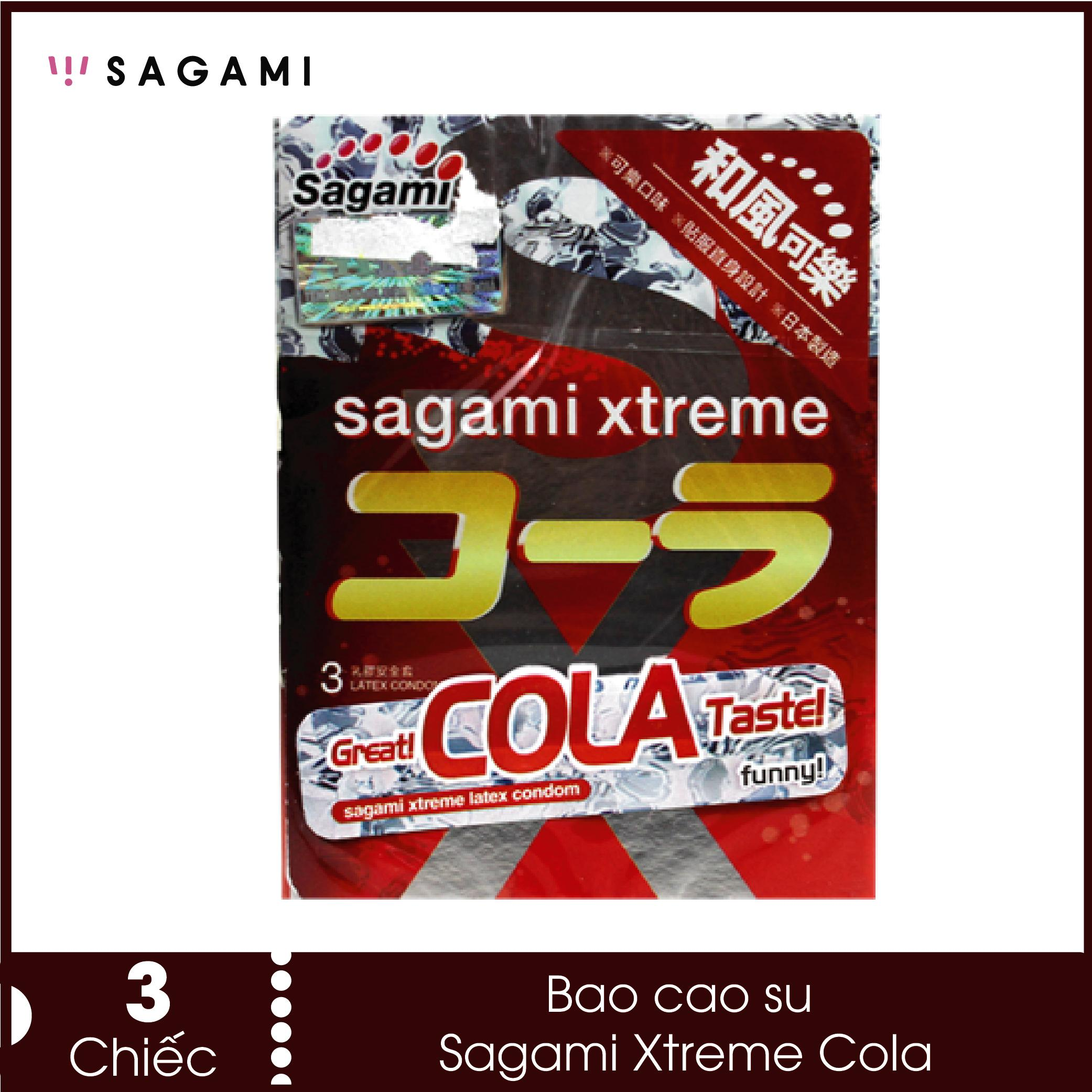 Bao cao su kéo dại thời gian Sagami Cola - mùi Cola siêu độc lạ