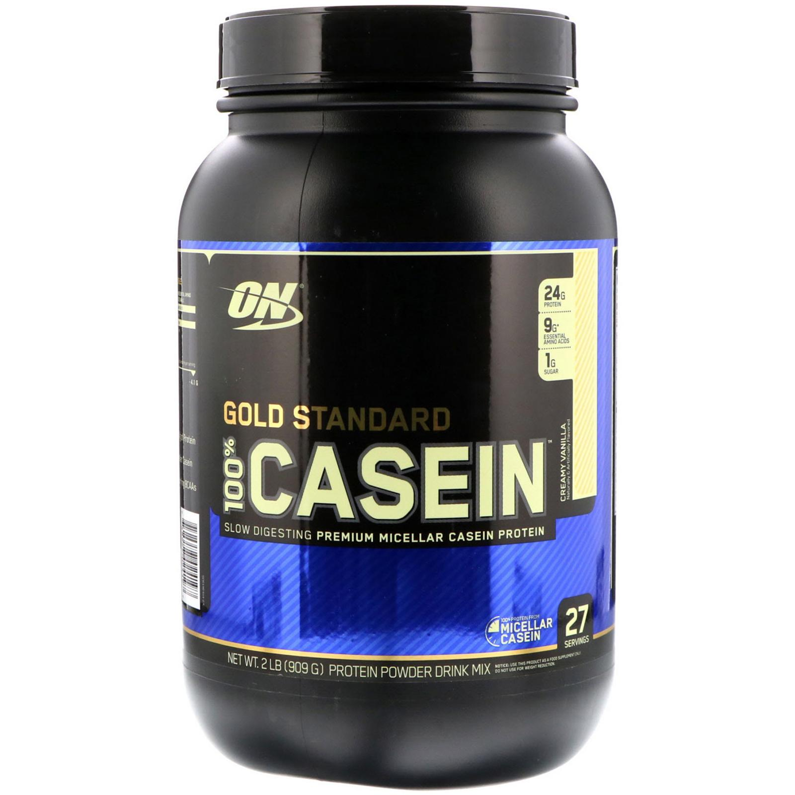Thực phẩm bổ sung Optimum NutritionGold Standard 100% Casein Creamy Vanilla 2 lbs