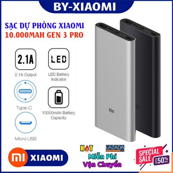 XIAOMI - PIN DỰ PHÒNG XIAOMI - Sạc dự phòng Xiaomi GEN 3 , hỗ trợ sạc nhanh , có cổng sạc tyc , cổng sạc 2.3 + 3.0 cao cấp, dung lượng chuẩn 10000MAH sạc cực nhanh