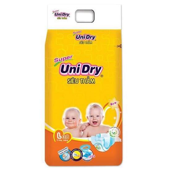 Tã / Bỉm dán Unidry L38 tã siêu thấm (dành cho bé có cân nặng từ 9-14kg)