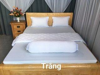 Ga - Drap Giường Lẻ Thun Mát Lạnh Lan Pham Bedding - Màu Trắng thumbnail