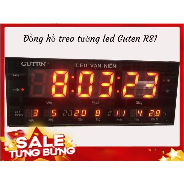 Đồng hồ led vạn niên Guten R81 treo tường bán chạy