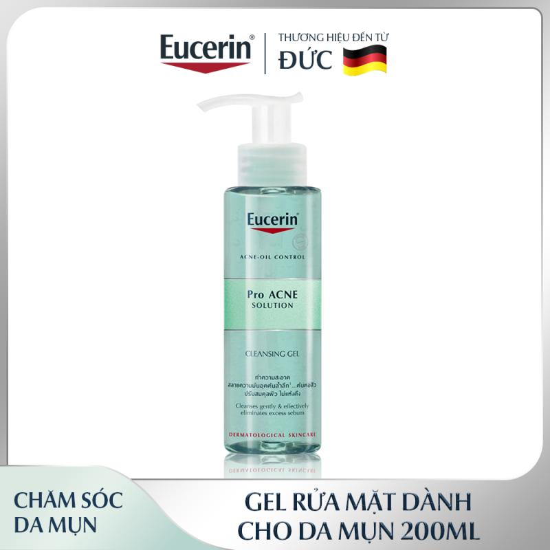 Gel Rửa Mặt Cho Da Mụn Eucerin Pro Acne Cleansing Gel 200ml giá rẻ
