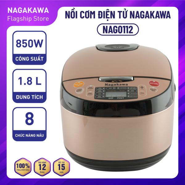 Bảng giá Nồi Cơm Điện Tử Nagakawa NAG0112 - Dung tích 1.8 Lít - Đa chúc năng nấu nướng - Lòng nồi cao cấp siêu bền - Hàng chính hãng Điện máy Pico