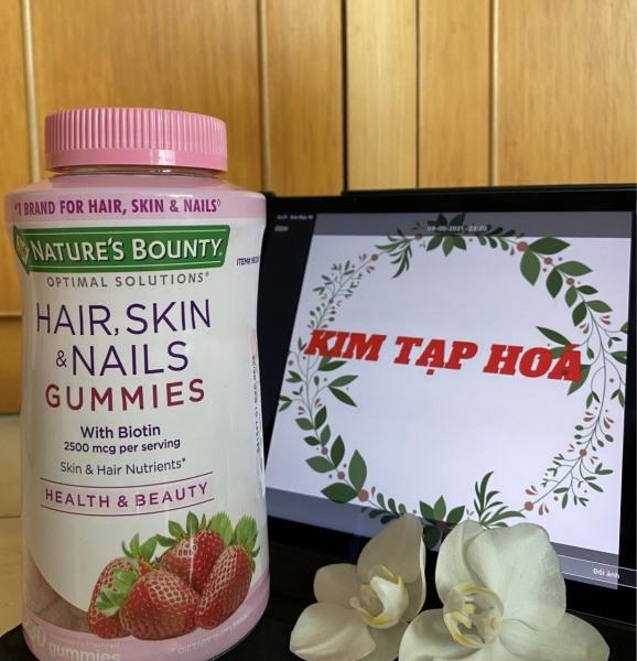 Kẹo dẻo Hair, Skin and Nails Gummies 230v chính hãng Mỹ