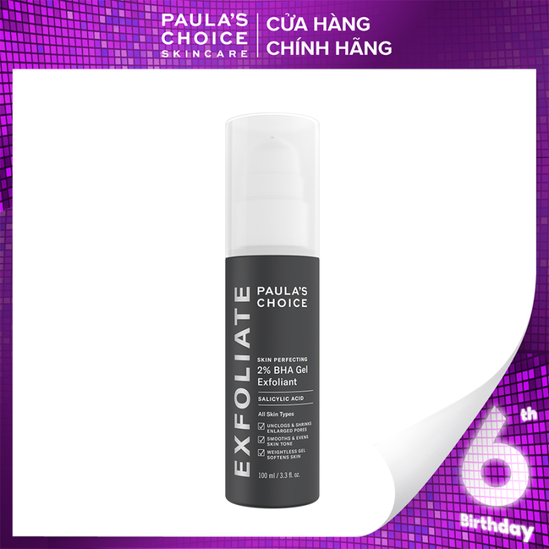 Gel loại bỏ tế bào chết Paula's Choice Skin Perfecting 2% BHA Gel Exfoliant 100ml-2040 giá rẻ