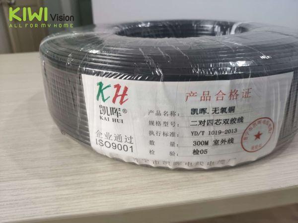 Bảng giá Dây mạng Cat 3e KAI HUI, 4 lõi đồng 0.5mm hỗ trợ chạy POE Phong Vũ