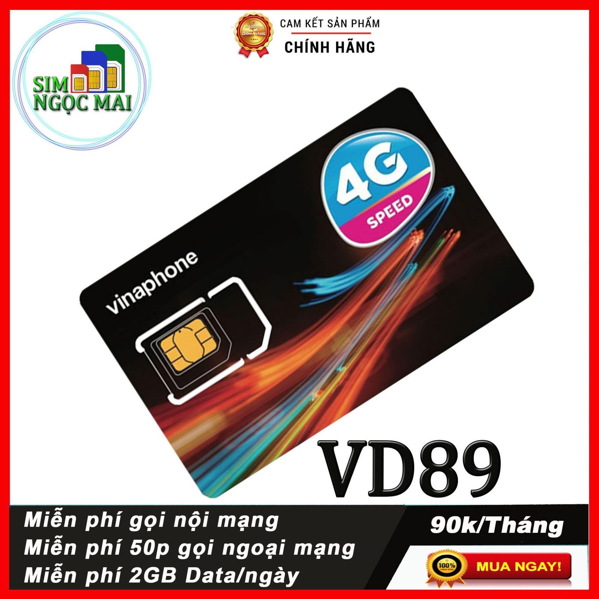 Sim 4G Vinaphone VD89P Gói Km 120Gb  4Gb Mỗi Ngày