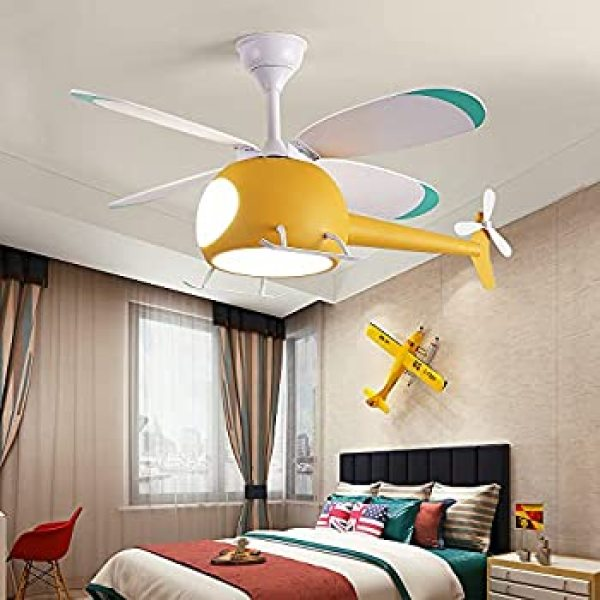 Quạt Trần Máy Bay Trẻ Em Promax Lõi Đồng Full Gió, 3 Chế Độ Đèn LED, Có Điều Từ Xa Phù Hợp Trang Trí Phòng Trê Nhỏ