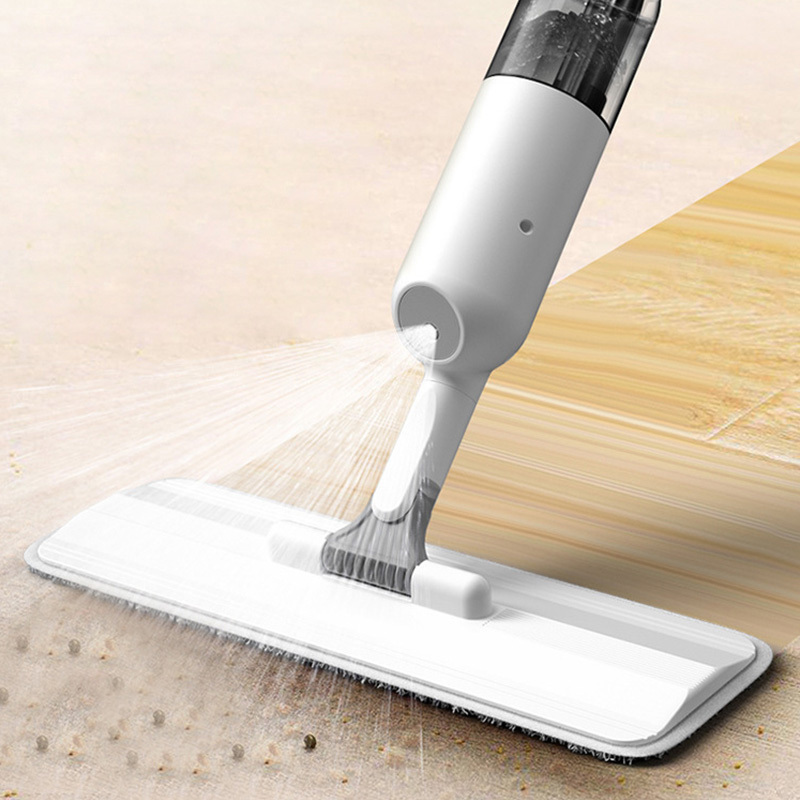 Xiaomi Youpin 360 Degree Spray Mop with Reusable Microfiber Pads White Flat Mop Home Cleaning Wood Ceramic Tiles Floor Clean Tools