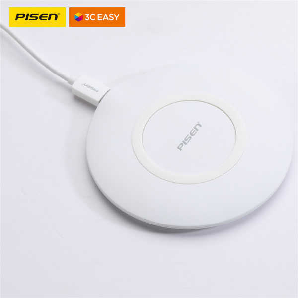 PISEN Ultrathin mini 15W quick charger with ultra-thin wireless quick charging base TS-C093