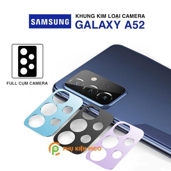 Dán camera Samsung A52 khung kim loại bảo vệ an toàn camera sau - Ốp viền camera Samsung Galaxy A52