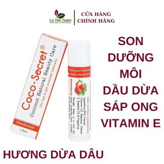 Son Dưỡng Môi Tinh Dầu Dừa Sáp Ong Vitamin E Coco Secret 5g Giúp Mềm Mượt Môi thumbnail