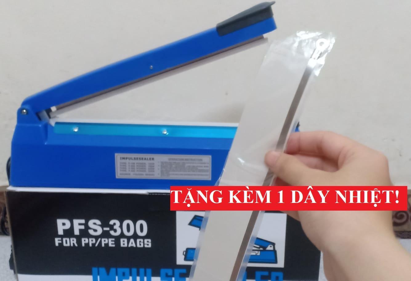 máy hàn miệng túi PFS300 (30cm) +TẶNG BỘ DÂY NHIỆT, máy ép túi nilong, màng co