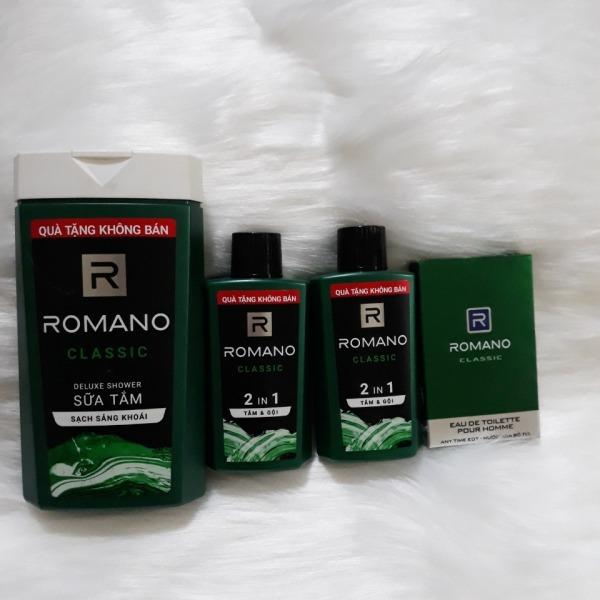 Combo 4 món Romano: 1 Sữa Tắm Romano 150g, 2 Dầu Gội ROmano 60g, 1 Nước Hoa Romano 18ml tốt nhất