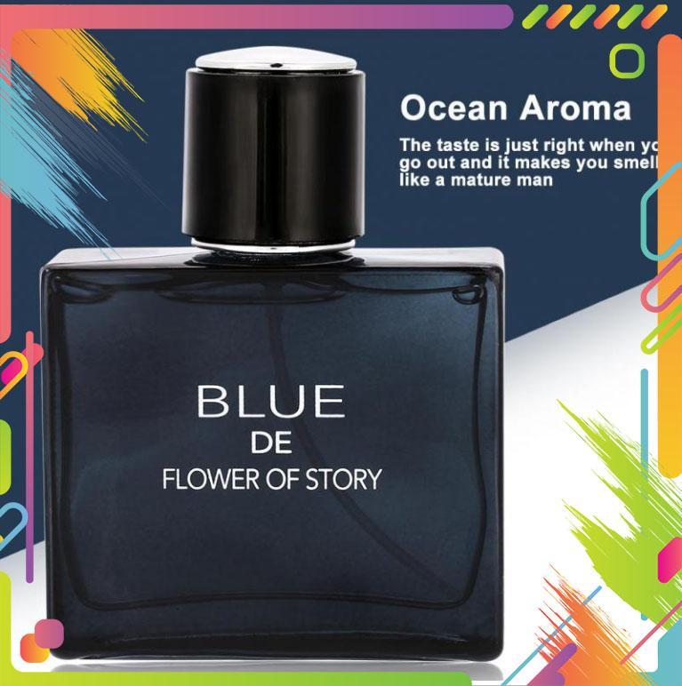 Nước Hoa Nam Blue De Flower Of Story nước hoa for men, hương thơm quyến rũ đàn ông đích thực [Queen love 88] nhập khẩu