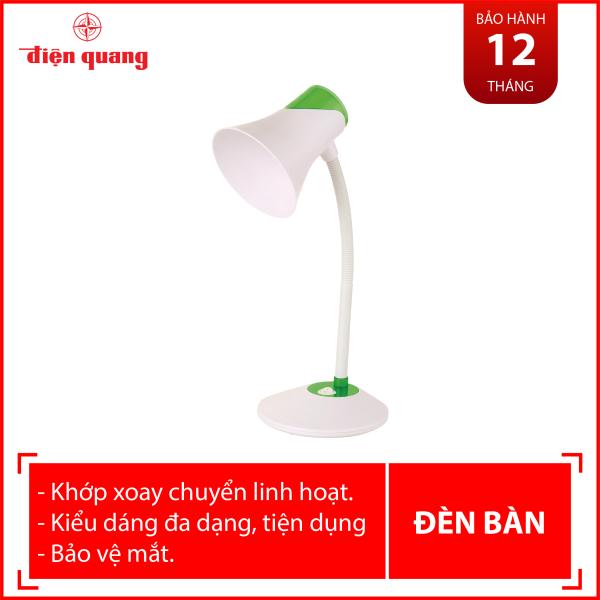Đèn bàn bảo vệ thị lực Điện Quang ĐQ DKL15 WG B (màu trắng - xanh lá cây, bóng led warmwhite)