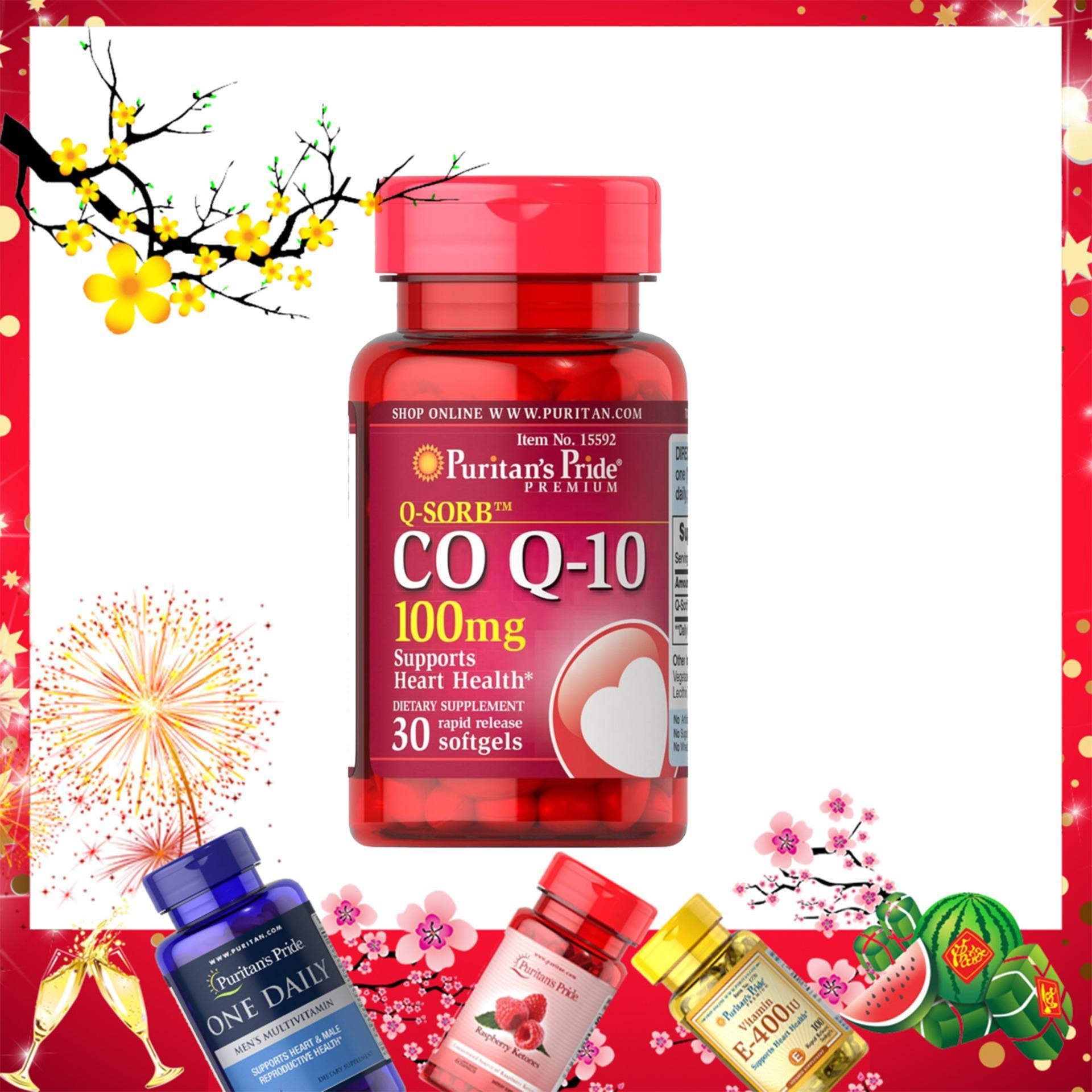 Hỗ trợ tim mạch, giảm cholesterol Q-Sorb CoQ10 100mg 30 viên HSD tháng 04/2020