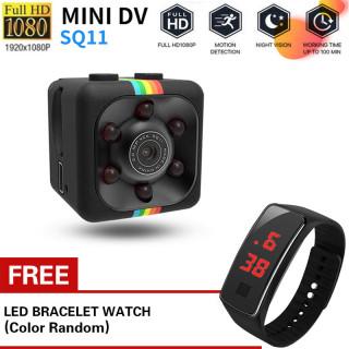 Miễn phí ĐỒNG HỒ LED Máy Quay Phim Giám Sát Mini SQ11 HD 1080P DVR Tầm Nhìn Ban Đêm Cho Xe Hơi Máy Bay Không Người Lái Văn Phòng Và Ngoài Trời thumbnail