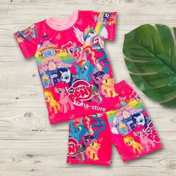 Bộ trẻ em - Bộ bé gái 3D in hình, vải thun lạnh nhập Thái, co giãn 4 chiều, chất vải mát, hình in đẹp, sắc nét, có size cực đại cho bé