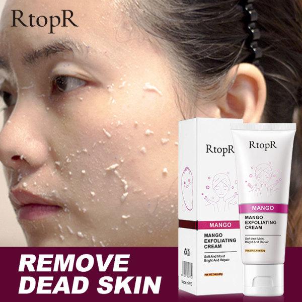 RtopR Skin Care Face Exfoliating Cream Whitening Moisturizer Repair Facial Scrub Cleaner Acne Blackhead Treatment Remove Face Cream