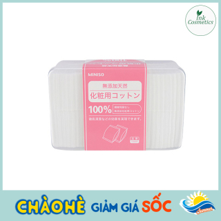 Bông Tẩy Trang Miniso Siêu Mỏng Nhật Bản Hộp 1000 Miếng 100% Cotton Nguyên Chất Dai Mềm, Không Gây Kích Ứng. thumbnail