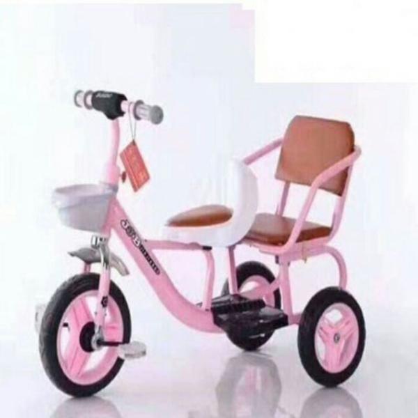 Phân phối [ siêu rẻ] Xe đạp xích lô cao cấp cỡ đại 2 ghế cho bé - xe đạp 3 bánh trẻ em - xe đạp trẻ em