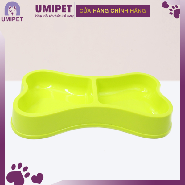 BÁT ĐÔI HÌNH XƯƠNG UMIPET - Bát ăn cho Chó và cho Mèo