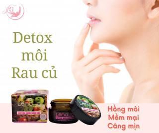 Detox thải chì môi LENA IQ tẩy tế bào chết làm môi hồng mịn môi căng mọng - Rau củ thumbnail