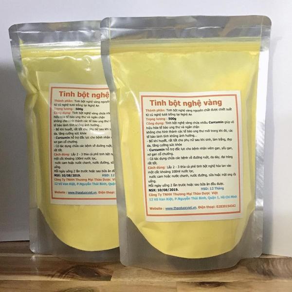 [KHUYẾN MÃI] 1kg Tinh bột nghệ vàng Thảo Dược Việt ( combo 2 gói 500g) giá rẻ