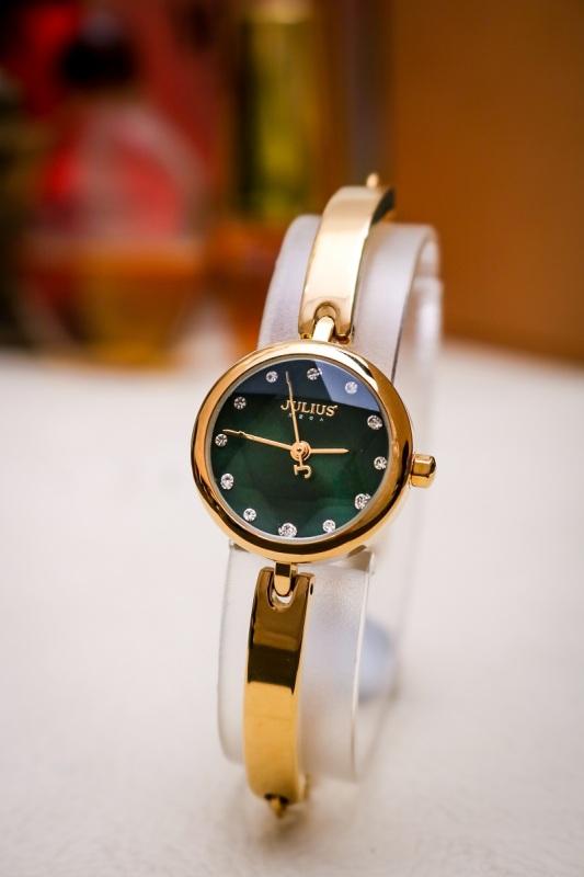 Đồng hồ nữ Julius Hàn Quốc JA-1126B dây thép dạng lắc